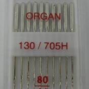Иглы Organ 130/705Н (№ 80)  универсальные