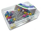 Булавки портновские с пластиковым шариком в коробочке