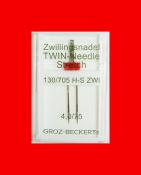 Игла двойная Groz-beckert 130/705H-S ZWI №4,0/75